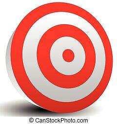 Red Bullseye Target      Red Bullseye Target