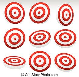 Red Bullseye Target Set      Red Bullseye Target Set