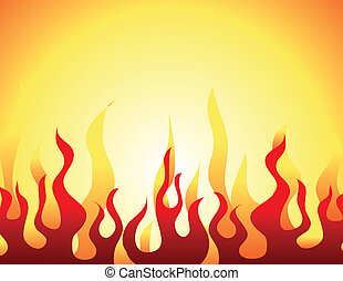 Red burning flame pattern