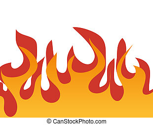 Red burning flame pattern. Vector. - Red burning flame...