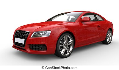 Red Business Car