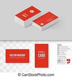 Branding Mock Up - Red Business Cards Template. Branding ...