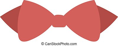 Red butterfly clothing fashion vector illustration isolated on white