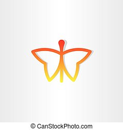 red butterfly icon design
