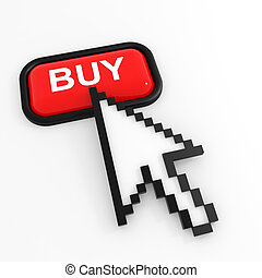 Red button BUY with arrow cursor.