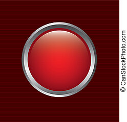 red button over lines background vector illustration
