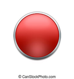red button with splotch  isolated on white