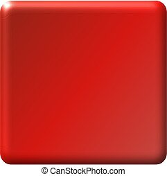 Red Button - Illustration of a square red button, great for...