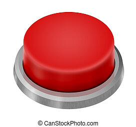 Red Button - Red Launch Button isolated on white