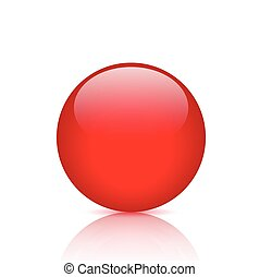 Red Button Illustration