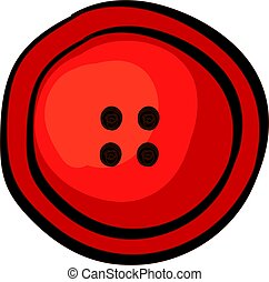 Red button, illustration, vector on white background.
