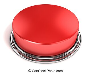red button isolated 3d illustration