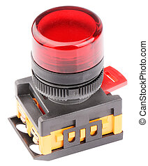 Red button isolated