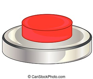 Red button on white