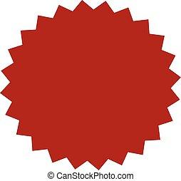 Red button star sticker