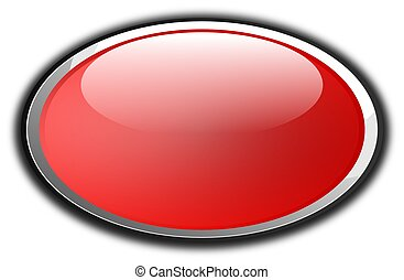 Red button - Glossy button in red