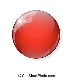 Red  Button Vector Illustration