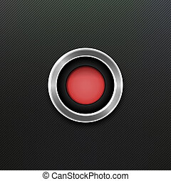 Red Button. Vector