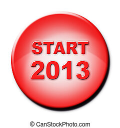 Red button with text Start 2013