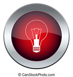 red button with the light bulb idea
