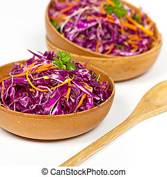 Red cabbage - Healthy red cabbage salad