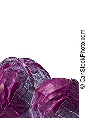 Red Cabbage Isolated on White. Red Cabbage Copy Space. ...