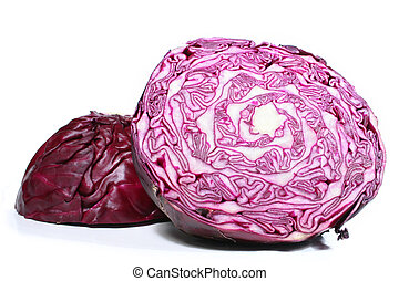 Red Cabbage - Red cabbage on white background