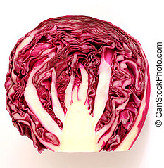 Red cabbage slice