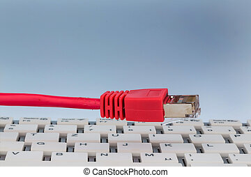 red, cable, teclado