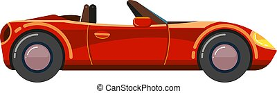 Red cabriolet car. Luxury sport business comfortable...