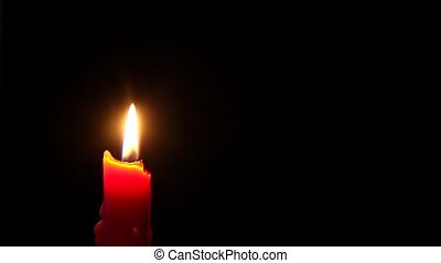 Red Candle Lighting