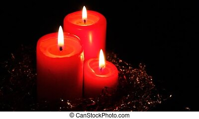 Red candles