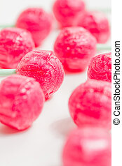 red candy lollipops
