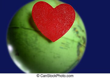 candy valentines heart over the world green global earth map...
