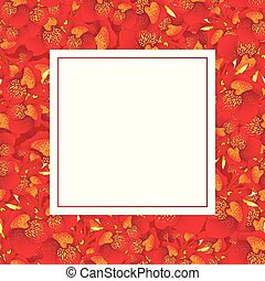 Red Canna lily Banner Card