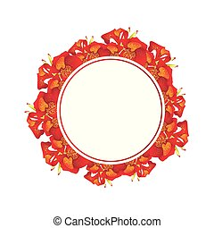 Red Canna lily Banner Wreath
