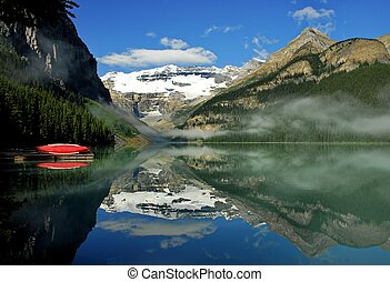 Red Canoe and Lake Louise.