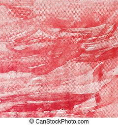 Red canvas texture background