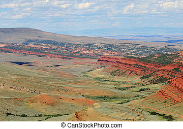 Red Canyon landscape in Fremont County Wyoming