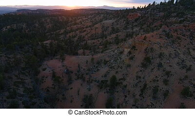Red Canyon near Bryce at Sunset