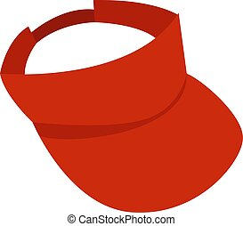 Red cap, illustration, vector on white background.