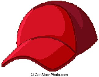 Red cap in cartoon style isolated on white background