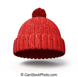 cap - red cap isolated on a white background