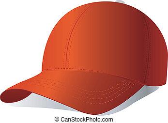 Red cap. Vector.