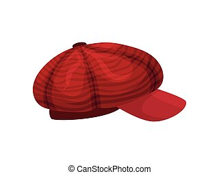 Red cap. Vector illustration on white background.