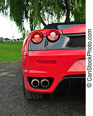 red car half rear