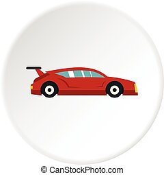 Red car icon circle