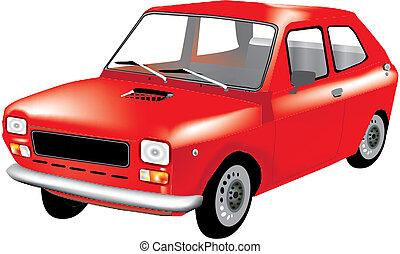 car - red car