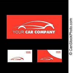 Red car logo design