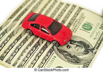 Red Car Money Concept